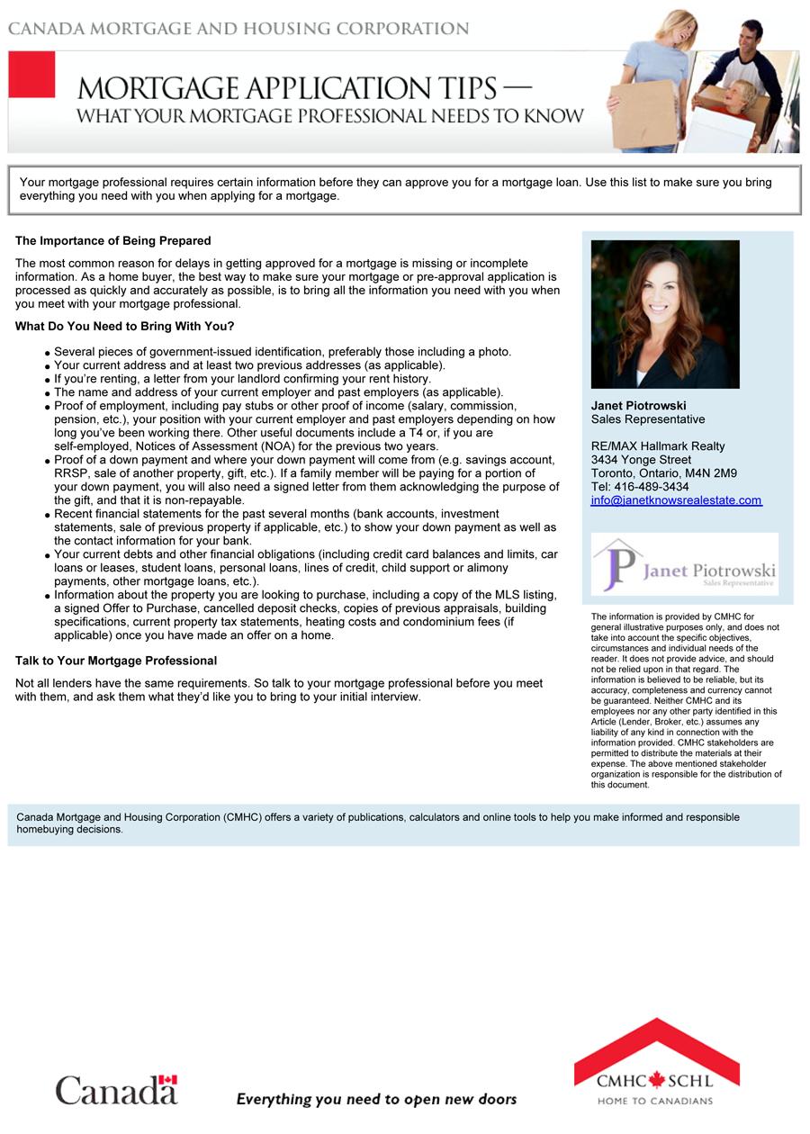 mortgage application tips janet piotrowski mortgage application tips